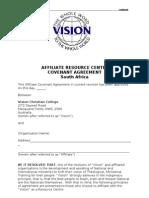 Covenant Agreement 2012