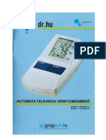 BD550 automata felkaros vérnyomásmérő