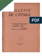 Bulletin de L'Étoile N°4 Janvier 1931 par J. Krishnamurti
