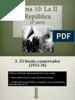 La II República 2ª parte