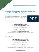 22-02-12 CULTURA_Actividades Fórum
