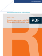 McKinsey Telecoms. RECALL No. 18, 2011 - Boosting performance in B2B