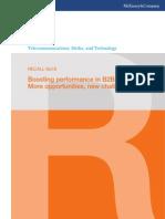 McKinsey Telecoms. RECALL No. 18, 2011 - Boosting performance in B2B