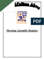 Morning Assembly Register