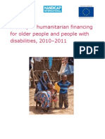 A study of humanitarian financing for older people and people with disabilities 2010-2011