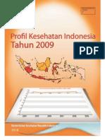 Buku Profil Kesehatan Indonesia 2009