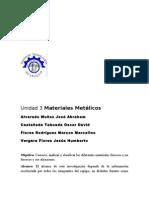 Unidad 3 Materiales Metalicos