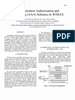 Authentication Authorization and Accounting (AAA) Schemes in WiMAX
