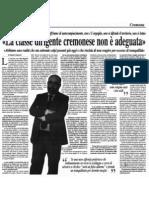 """La classe dirigente cremonese non è adeguata (""""Il Piccolo"""", 10-02-201, p. 8)"""