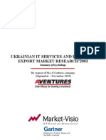 Ukrainian IT Services and Products Export Market Research 2003