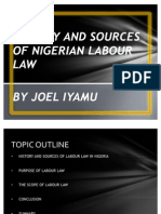 Joel_iyamu_history and Sources of Nigerian Labour Law