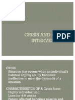 Crisis and Crisis Intervention