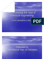 Rediscovering the Joys of Chemical Engineering ….From Laboratory to Kitchen