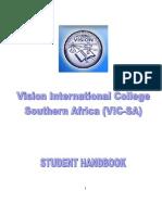 Vision Int l College Handbook