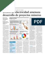 Déficit de electricidad amenaza desarrollo de proyectos mineros