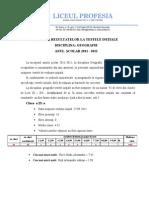 interpretarea testelor initiale 2011-2012