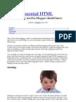 Essential HTML