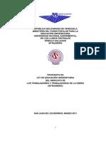 PROPUESTA DE LEY DE EDUCACIÓN UNIVERSITARIA DE SITRAUNERG