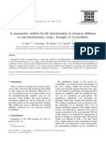 A Ma No Metric Method for the Determination of Chemical Diffusion