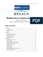 Mod Security for Apache User Guide