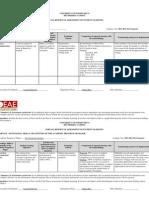 Informe de Assessment - Ciencias Ambientales 2011-2012 Primer Semestre