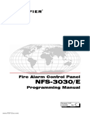 NFS-3030/E: Fire Alarm Control Panel Programming Manual