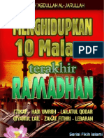 Menghidupkan 10 hari  Terakhir di Bulan Ramadhan