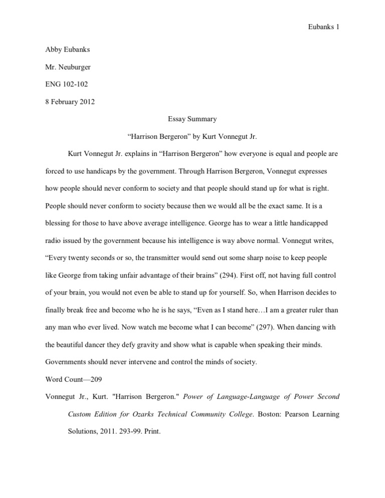 Harrison bergeron thesis harrison bergeron thesis statement 2019 01 12