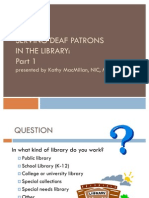 Serving Deaf Patrons in the Library Part 1