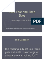 Child Foot and Shoe Sizes