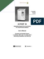 Manual Variador de Velocidad Telemecanique 66