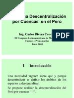 Hacia una descentralización del Perú por cuencas Congreso de Cuencas