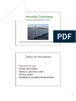 Photo Voltaic Cells