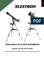 Manual Telescopio Celestron Astromaster 70 EQ