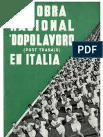 La Obra Nacional Dopolavoro en Italia