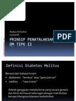 Penatalaksanaan DM Tipe II