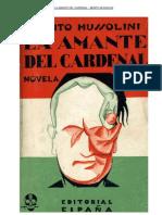 La amante del cardenal. Benito Mussolini