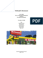 (Operations Management) - McDonald's Analysis