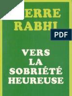 Vers La Sobriete Heureuse- Pierre Rabhi