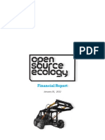 Open Source Ecology - Financial Report 01.01.12