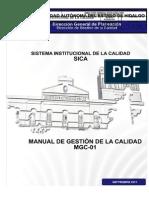 MANUAL DE GESTIÓN DE LA CALIDAD MGC-01