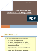 Recruiting and Selecting Staff for International Assignment