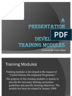 Anshu Training Modules Presentation