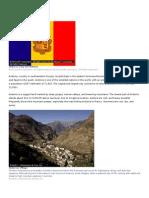 Countries of Europe - Andorra (Principality of Andorra)