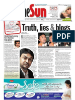 TheSun 2008-11-21 Page01 Truth Lies and Blogs
