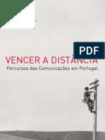Percuso da exposição sobre a evolução das telecomunicações.