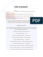 Como Presentar Un Proyecto