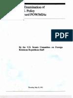 An Examination of US Policy Towards POW-MIAs 1991