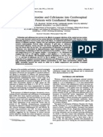 Passage of Cefotaxime and Ceftriaxone Into Cerebrospinal