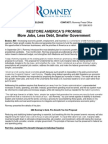 Fact Sheet- RESTORE AMERICA'S PROMISE